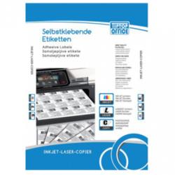 OFFICE TIP TOP samolepljive etikete TTO 070033 (Bele) 70 x 33.8 mm, 24, 100, Bela