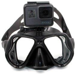 Potapljaška maska z nastavkom in torbico