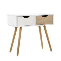 [en.casa]® Dizajnerska pisalna miza - toaletna mizica s predaloma, model 1
