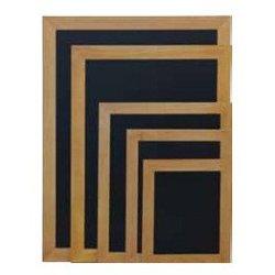 Securit crna kredna ploča Woody, tik okvir, 60 x 80 cm
