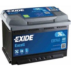 EXIDE akumulator excell EB740. 74D+ 680A(EN)