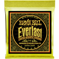 Ernie Ball 2558 Everlast Extra Light Coated 80/20 Bronze žice za akustičnu gitaru