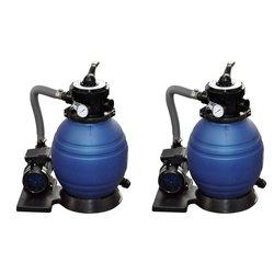 vidaXL Crpke s pješčanim filtrom 2 kom 400 W 11 000 L/h
