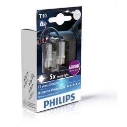 PHILIPS X-TREME VISION LED 1W 12V W5W 6000K - DVOJNO PAKIRANJE