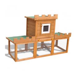 VIDAXL kavez za zečeve jedna kućica