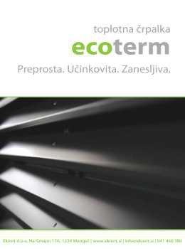 Ecoterm katalog - toplotne črpalke