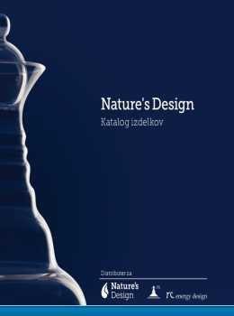 Nature''s Design katalog - stekleni izdelki