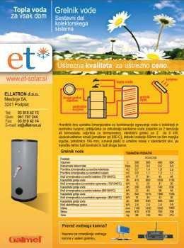 Ellatron katalog - ogrevalniki vode