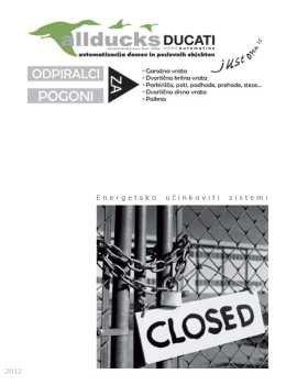allducks DUCATI katalog - pogoni za vrata