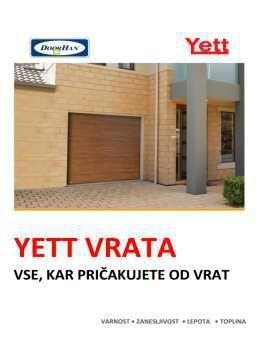Yett katalog - garažna vrata