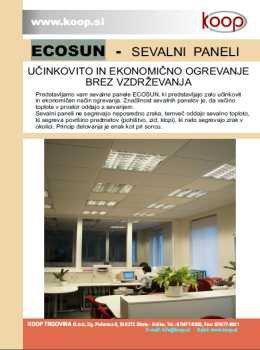 Ecosun katalog - Sevalni paneli