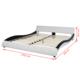 VIDAXL posteljni okvir iz umetnega usnja (160x200cm), črn-bel