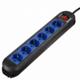 HAMA Colour naponski produžni kabl 6 utičnica 1.5m (Crna/Plava) - 00047887 6 utičnica, 1,5m