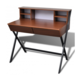VIDAXL računalniška miza z dvema predaloma, rjava