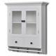 vidaXL Kuhinjski drveni ormarić sa staklenim vratima, Bijeli