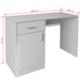VIDAXL miza s predalom in omarico (100x40x73cm), bela
