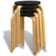 vidaXL 4 x Stolček iz Ukrivljenega Lesa Črne Barve